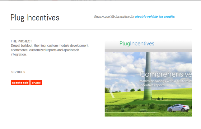 Plug Incentives Drupal Site