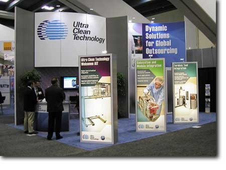 Ultra Clean Technologies Trade Show Booth - StartupFactory, LLC
